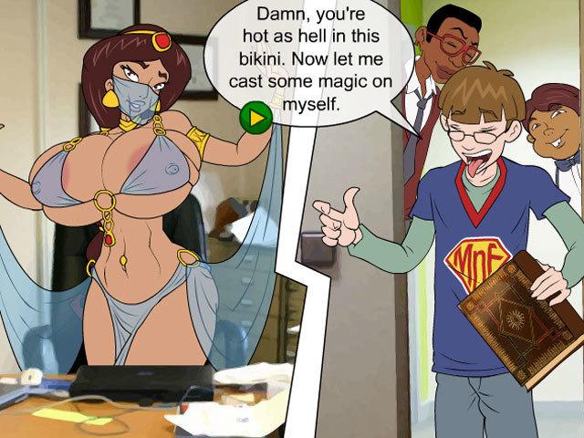 Magic book meet and fuck